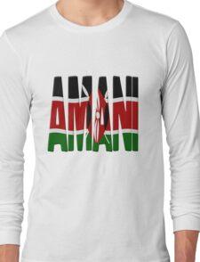 Amani - Kenya flag Long Sleeve T-Shirt