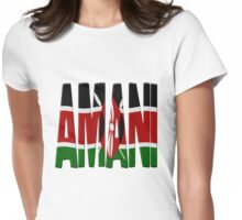 Amani - Kenya flag Womens Fitted T-Shirt