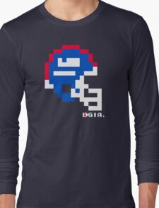 Tecmo Bowl - New York Giants - 8-bit - Mini Helmet shirt Long Sleeve T-Shirt