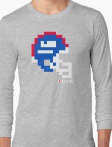 Tecmo Bowl - New York Giants - 8-bit - Mini Helmet shirt Long Sleeve T-Shirt