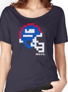 Tecmo Bowl - New York - 8-bit - Mini Helmet shirt Women's Relaxed Fit T-Shirt