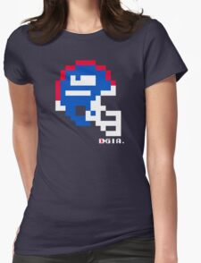 Tecmo Bowl - New York - 8-bit - Mini Helmet shirt Womens Fitted T-Shirt