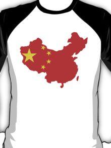 China Flag and Map T-Shirt