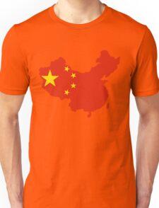 China Flag and Map Unisex T-Shirt