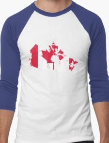Canada Flag and Map Men's Baseball ¾ T-Shirt