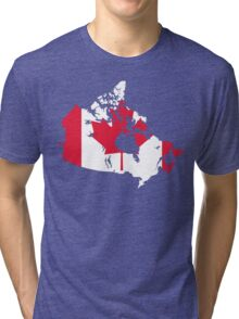 Canada Flag and Map Tri-blend T-Shirt