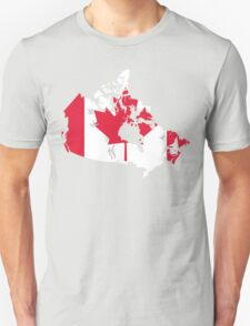 Canada Flag and Map T-Shirt