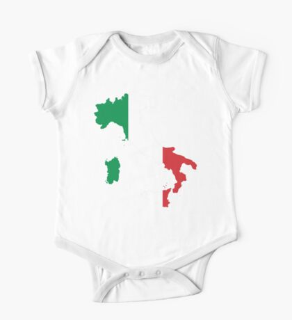 Italy Flag and Map One Piece - Short Sleeve