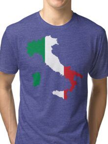 Italy Flag and Map Tri-blend T-Shirt