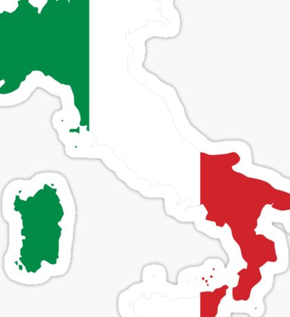 Italy Flag and Map Sticker