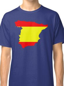 Spain Flag and Map Classic T-Shirt