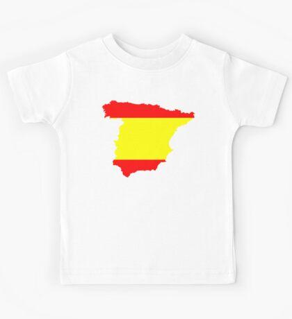 Spain Flag and Map Kids Tee