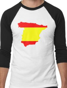 Spain Flag and Map Men's Baseball ¾ T-Shirt