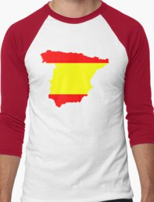 Spain Flag and Map Men's Baseball ¾ T-Shirt