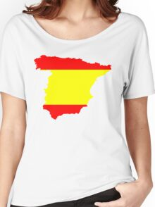 Spain Flag and Map Women's Relaxed Fit T-Shirt