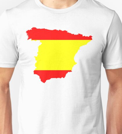 Spain Flag and Map Unisex T-Shirt