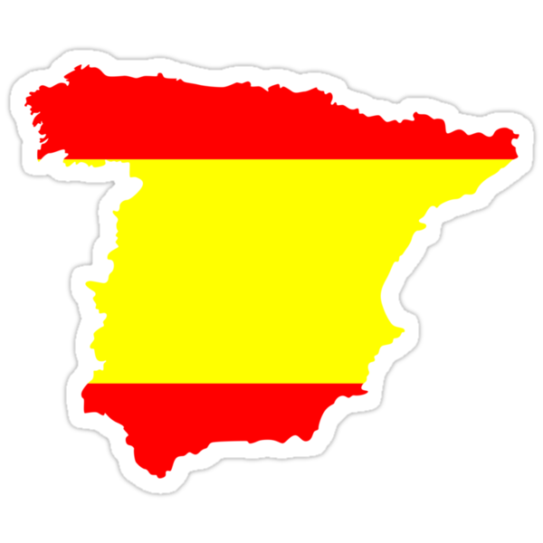 Spain Flag and Map by Nhan Ngo