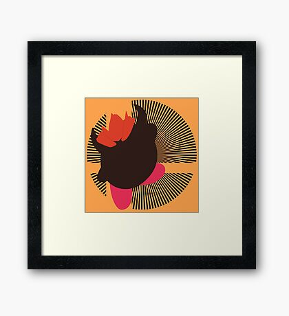 Bowser (Kirby Hat) - Sunset Shores Framed Print