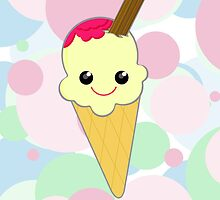 Cute Kawaii Ice Cream Cone by ArtformDesigns