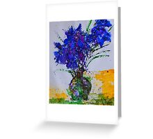Floral - silk paint on Japanese Yupo  Greeting Card