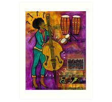 That Sistah on the Bass Art Print