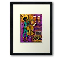 That Sistah on the Bass Framed Print
