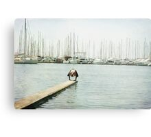 Yoga 7 by the beach, balancing asana in Mallorca Metal Print
