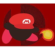 Mario (Kirby Hat) - Sunset Shores Photographic Print