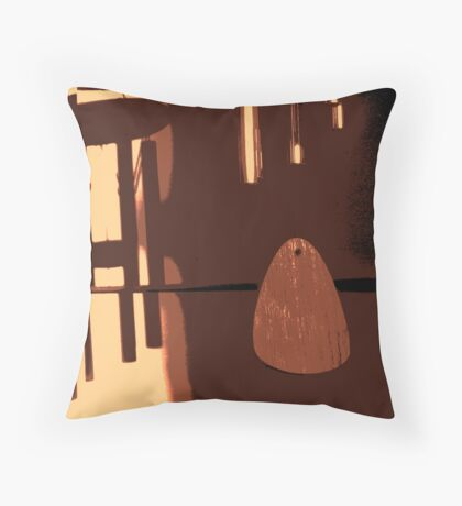 silent chime and shadow Throw Pillow