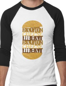 MEAT, CHEESE, BACON Men's Baseball ¾ T-Shirt
