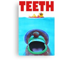 Teeth Parody Canvas Print