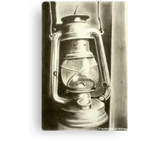 Old Lamp...New Light (Drawing Version) Canvas Print
