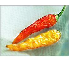 Red & Yellow Chilis Photographic Print