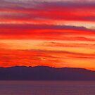 Red Sunset - Puesta del Sol en Rojo/SierraMadre y Bahía de Banderas by PtoVallartaMex