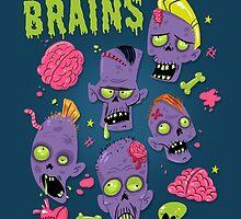 Brains by Christina Draws