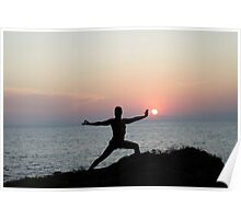 Yoga 7 by the beach, Mallorca Poster