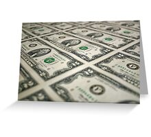 Sheet of Money Greeting Card