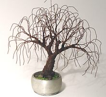 RUSTED BONSAI - Mini Tree Sculpture, by Sal Villano  by Sal Villano