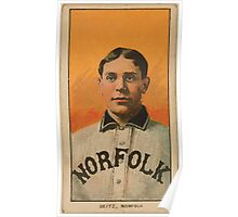 Benjamin K Edwards Collection Charles Seitz Norfolk Team baseball card portrait Poster
