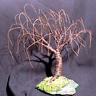 RUSTED WILLOW - Mini Wire Tree Sculpture, by Sal Villano  by Sal Villano