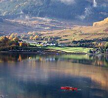 Canoeing on Loch Goil by Lynn Bolt