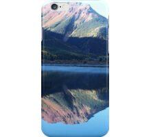 Mountain reflection at Crystal lake iPhone Case/Skin