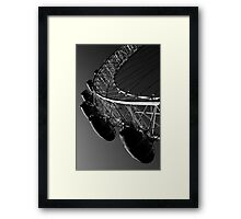 London Eye Black And White Framed Print