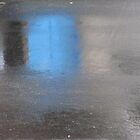 Rainy Day Asphalt and Blue by Jane Underwood