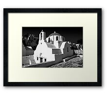 Greek Orthodox Churches of the Greek Cyclades Islands Framed Print