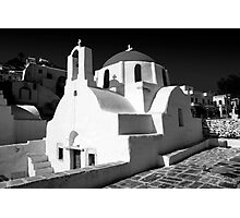 Greek Orthodox Churches of the Greek Cyclades Islands Photographic Print