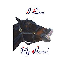 I Love My Horse! iPhone Case by Patricia Barmatz