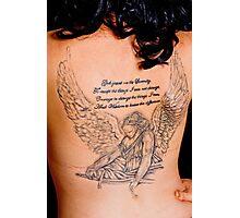Angels message, tattoo body art prayer Photographic Print