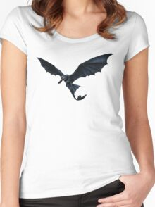 How To Train Your Dragon Toothless Design Women's Fitted Scoop T-Shirt