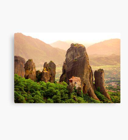Meteora Mountain Monateries, Greece 2 Canvas Print